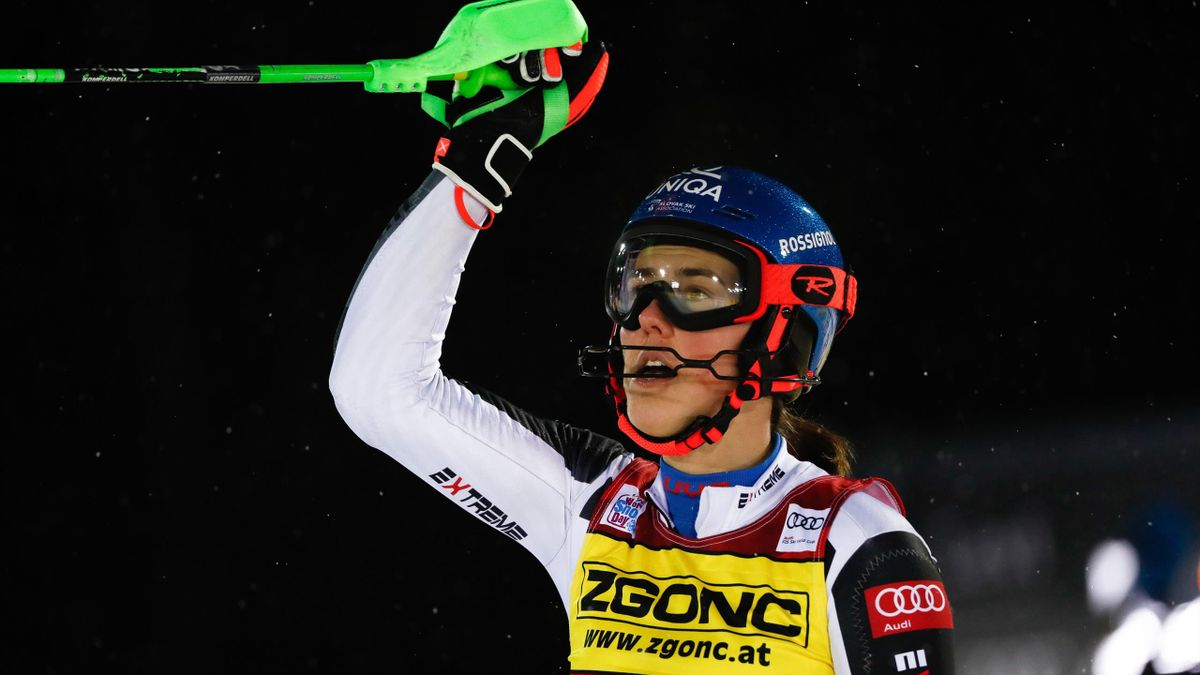 LEVI, FINLAND - NOVEMBER 21: Petra Vlhova of Slovakia takes 1st place during the Audi FIS Alpine Ski World Cup Women's Slalom on November 21, 2020 in Levi Finland