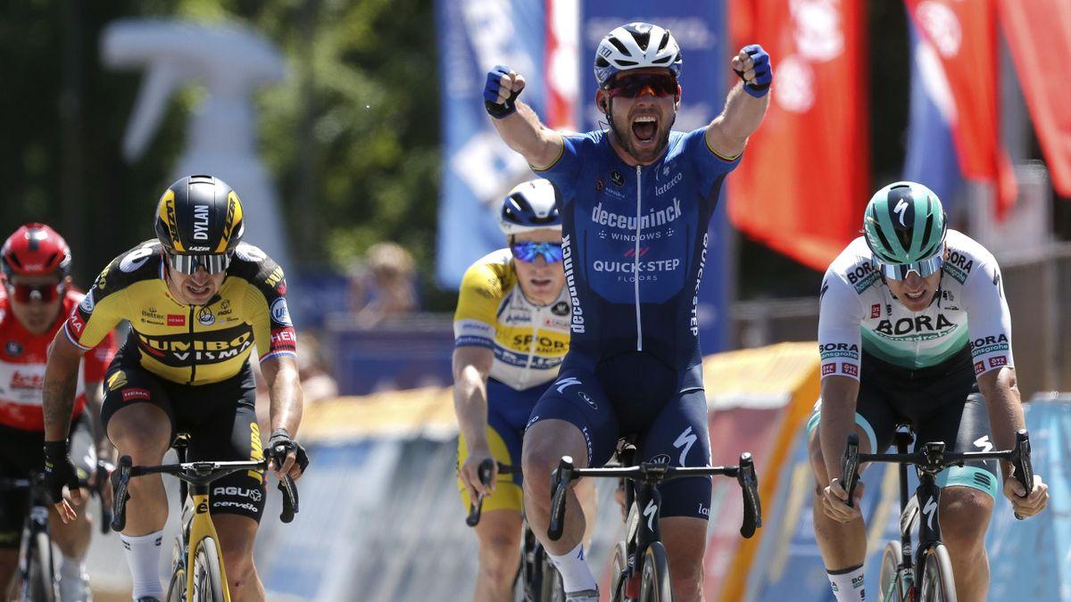 Mark Cavendish wins in the Tour of Belgium