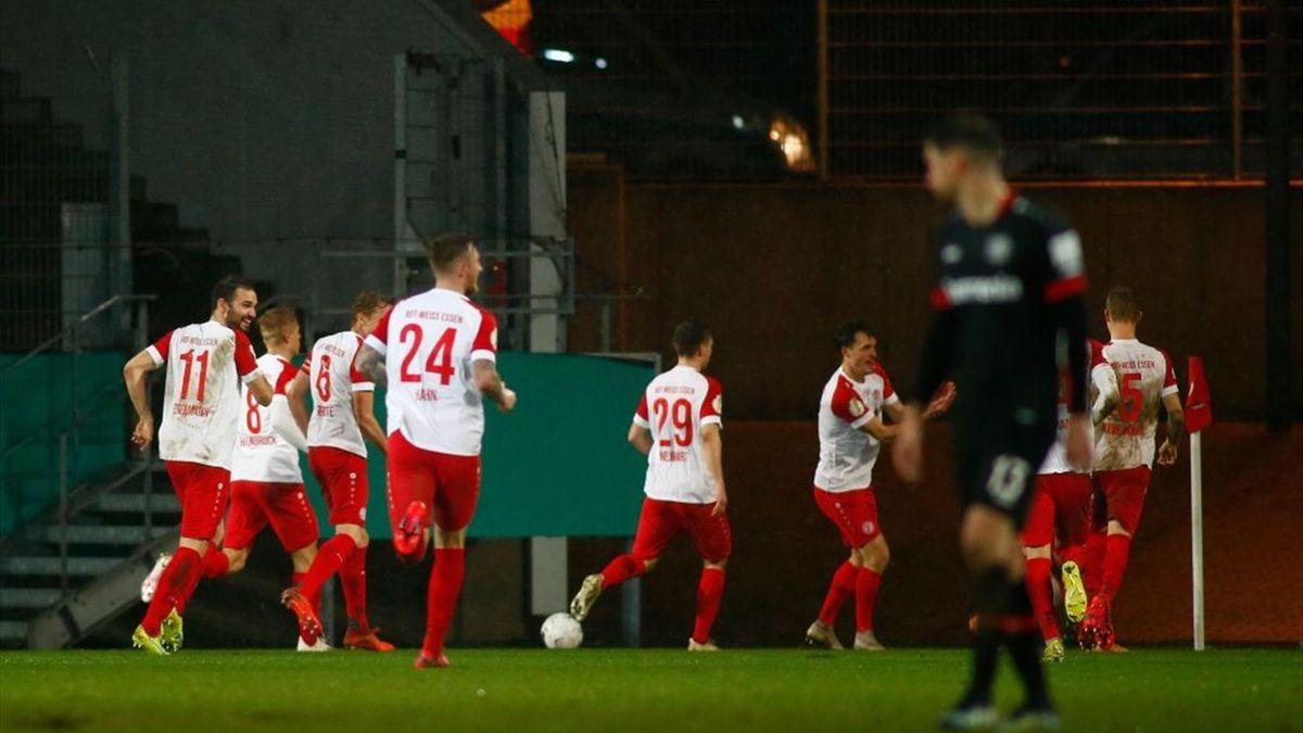 Essen schmeißt Leverkusen aus dem DFB-Pokal