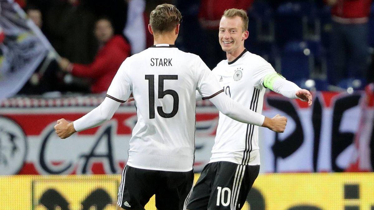 Niklas Stark und Maximilian Arnold im Trikot der deutschen U21