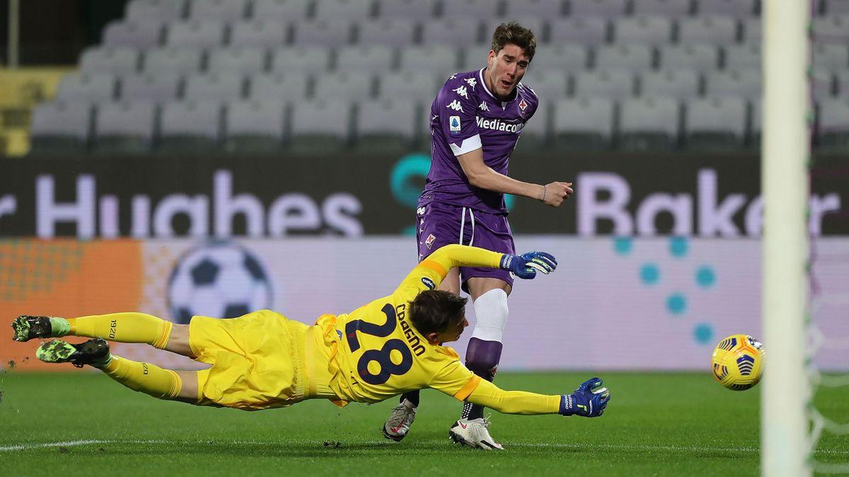 Dusan Vlahovic, Fiorentina-Cagliari, Serie A 2020-21, Getty Images