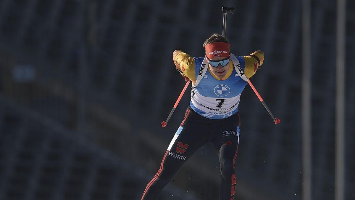 Benedikt Doll beim Weltcup in Nove Mesto na Morave 2021