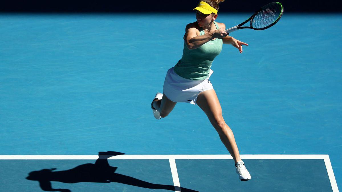 Simona Halep, în meciul cu Laura Siegemund