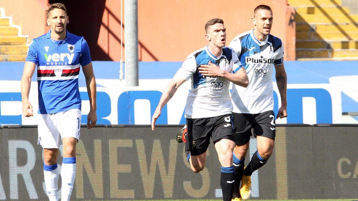 Gosens a segno in Sampdoria-Atalanta - Serie A 2020/2021 - Imago pub only in ITAxGERxSUIxAUT