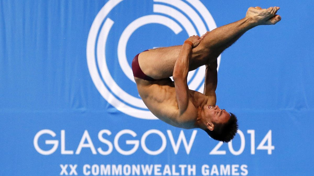 Tom Daley of England competes in the men's 10m Platform final at the 2014 Commonwealth Games in Edinburgh, Scotland, August 2, 2014. REUTERS/Stefan Wermuth (BRITAIN - Tags: SPORT DIVING)