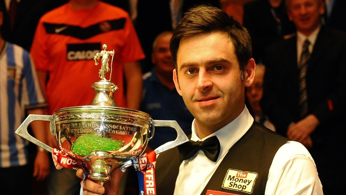 Ronnie O'Sullivan celebrates lifting the 2012 world title after his 18-11 win over Ali Carter