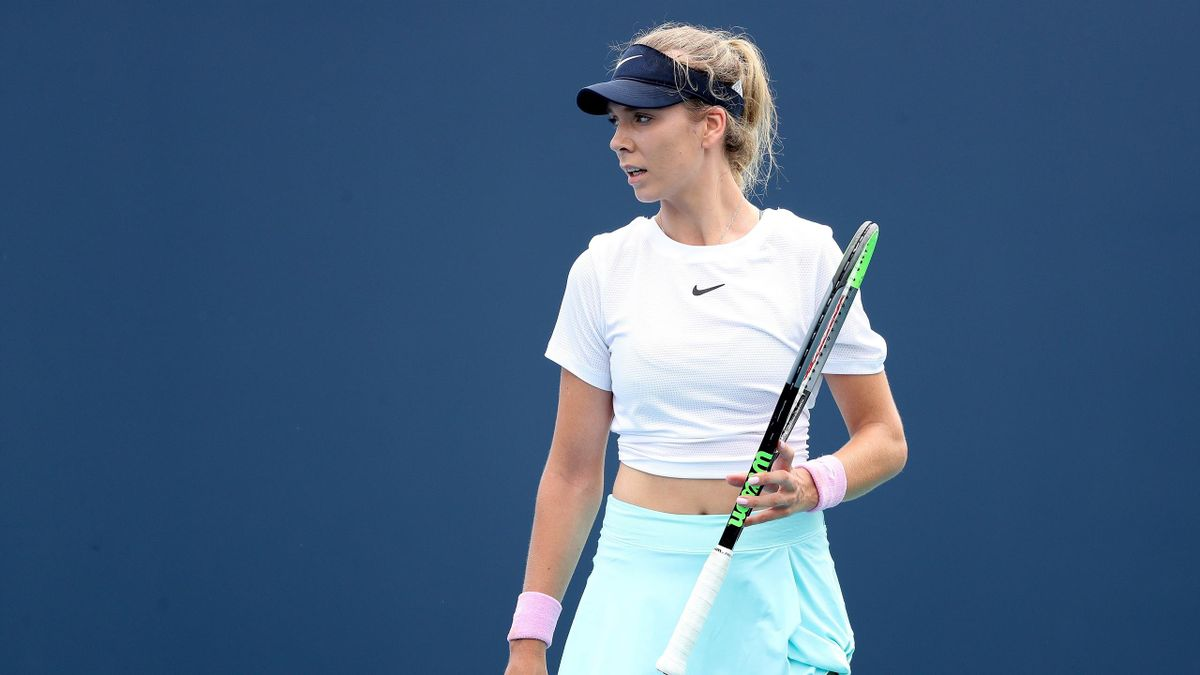 Britain's Katie Boulter needed three sets to reach round two of the Miami Open