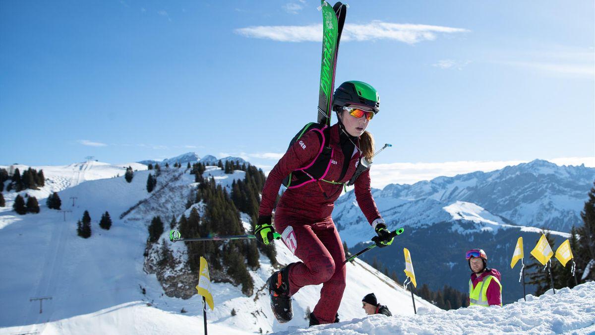 Antonia Niedermaier bei den der Olympischen Jugend-Winterspiele Lausanne 2020 | Foto: OIS/IOC