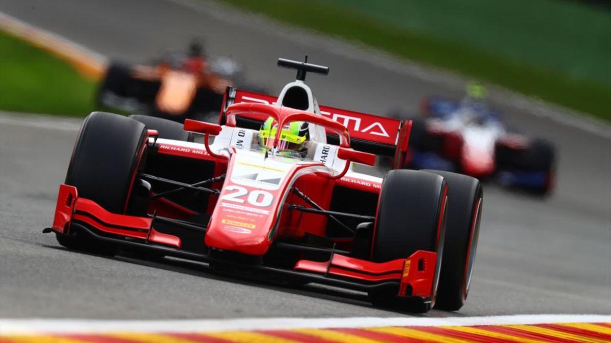 Mick Schumacher in seinem Prema-Racing-Boliden auf der Strecke in Spa-Francorchamps
