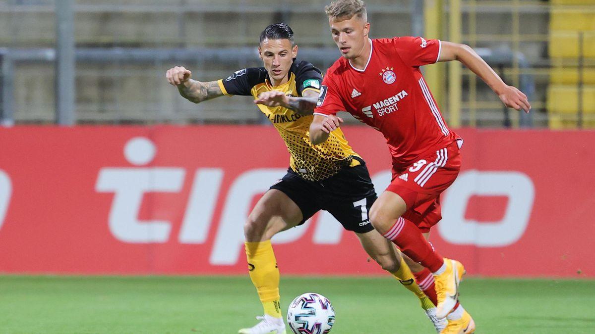 Bayern II und Jann-Fiete Arp (rechts) behielten gegen Dynamo Dresden klar die Oberhand