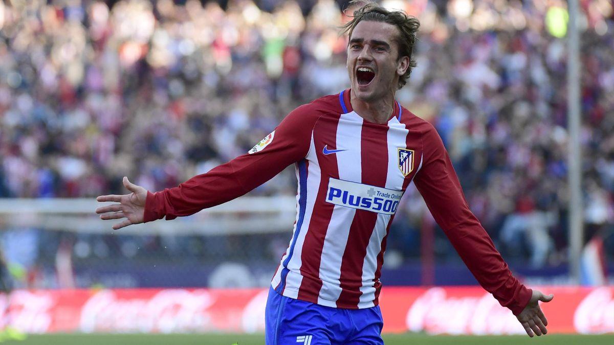 Face au FC Séville, Antoine Griezmann, l'attaquant de l'Atlético Madrid, a inscrit un superbe coup franc.