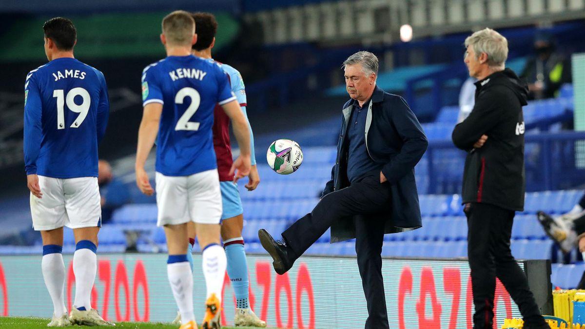 Everton-West Ham, League (Carabao) Cup 2020-2021: l'allenatore dei Toffees Carlo Ancelotti (Getty Images)