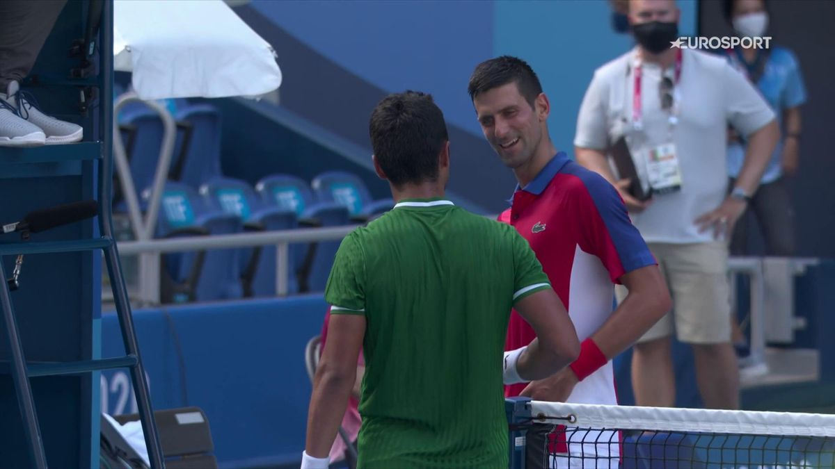 'Okay!' - Surprised Djokovic gets asked for his shirt by opponent at the net