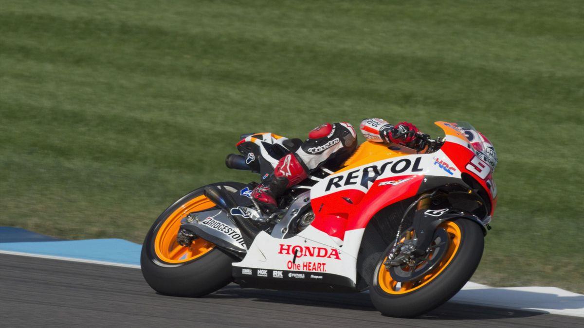Marc Marquez (Honda), une nouvelle fois en pole, cette fois à Indianapolis.