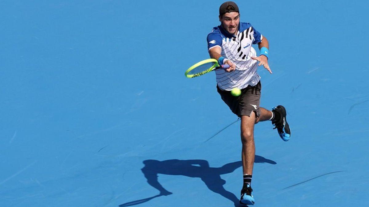 Jan-Lennard Struff ist beim ATP Masters Paris in Runde zwei