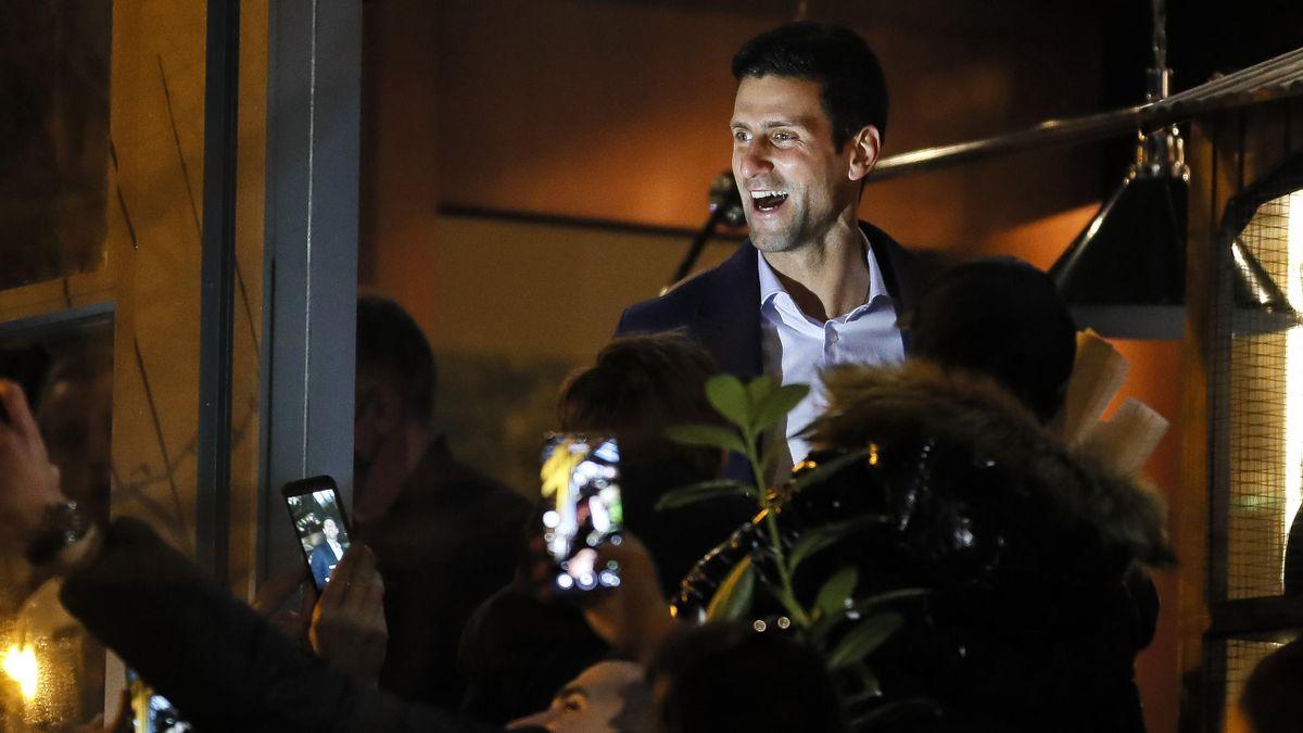 Novak Djokovic à Belgrade, le 8 mars 2021.