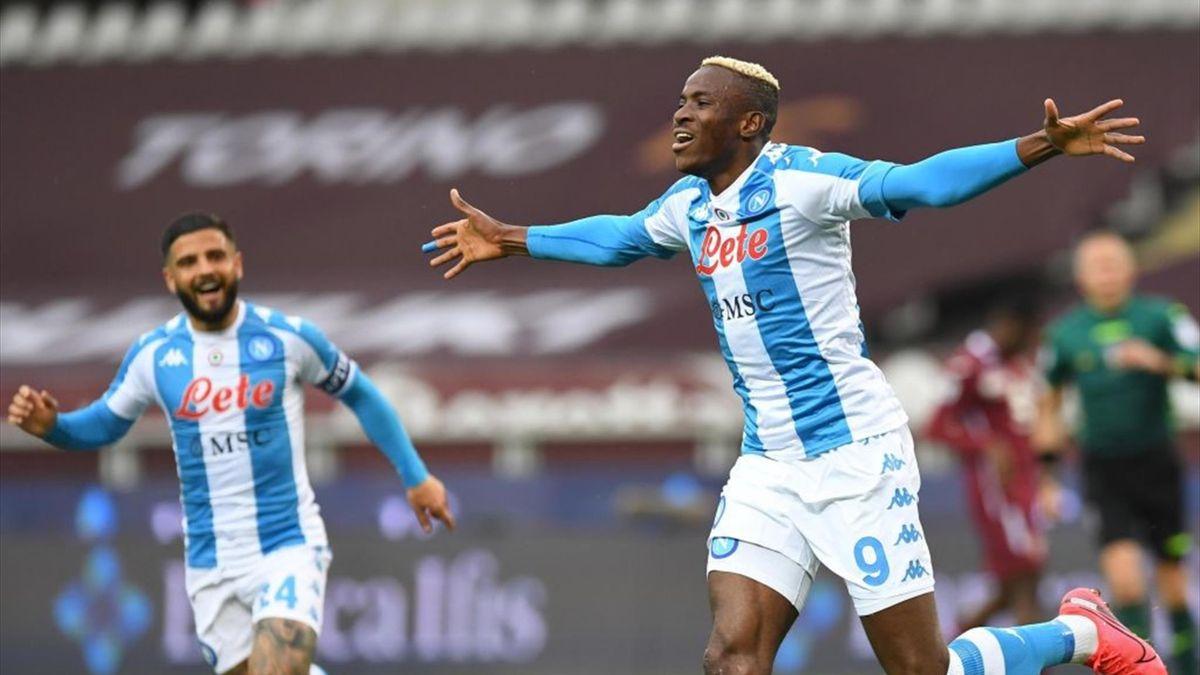 Osimhen esulta per un gol in Torino-Napoli - Serie A 2020/2021 - Getty Images