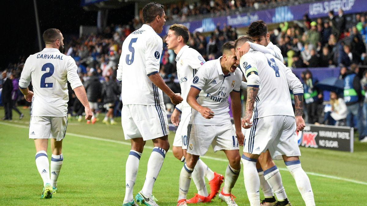 Le Real Madrid, vainqueur de la Supercoupe d'Eurpe contre le FC Séville