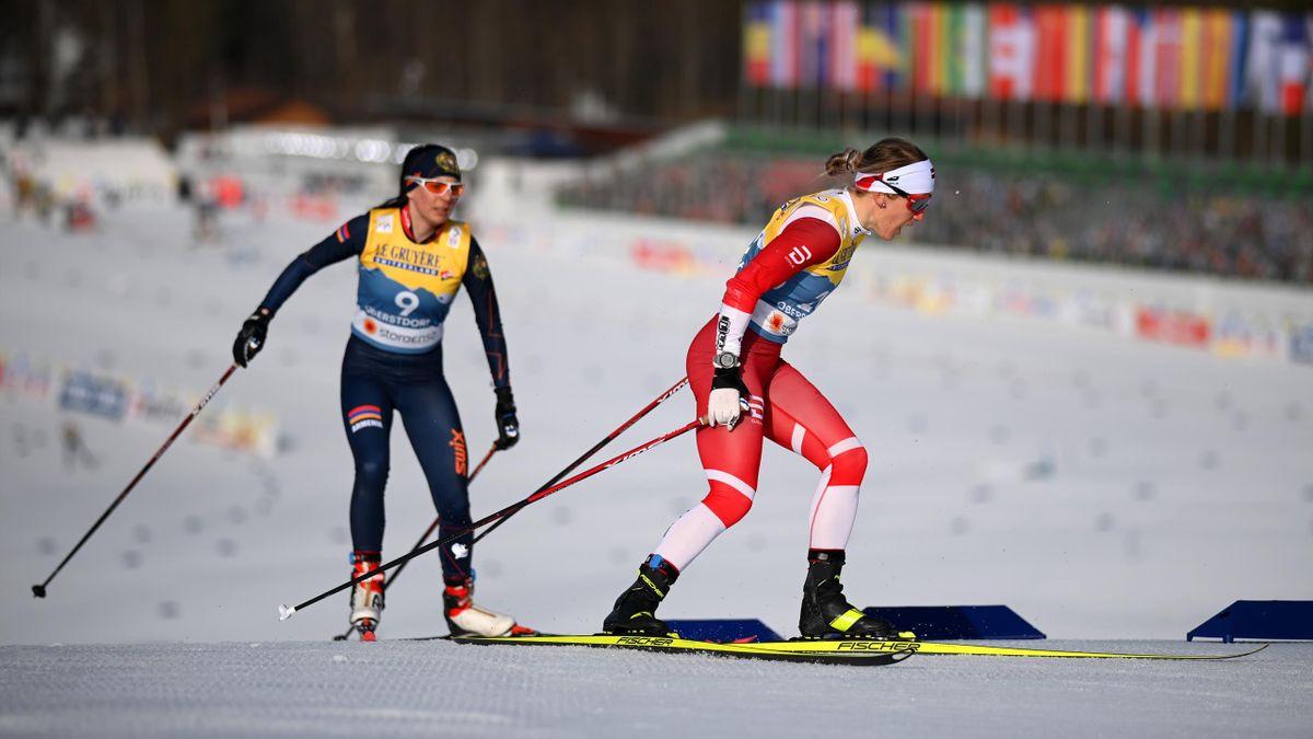 Байба Бендика на ЧМ по лыжам