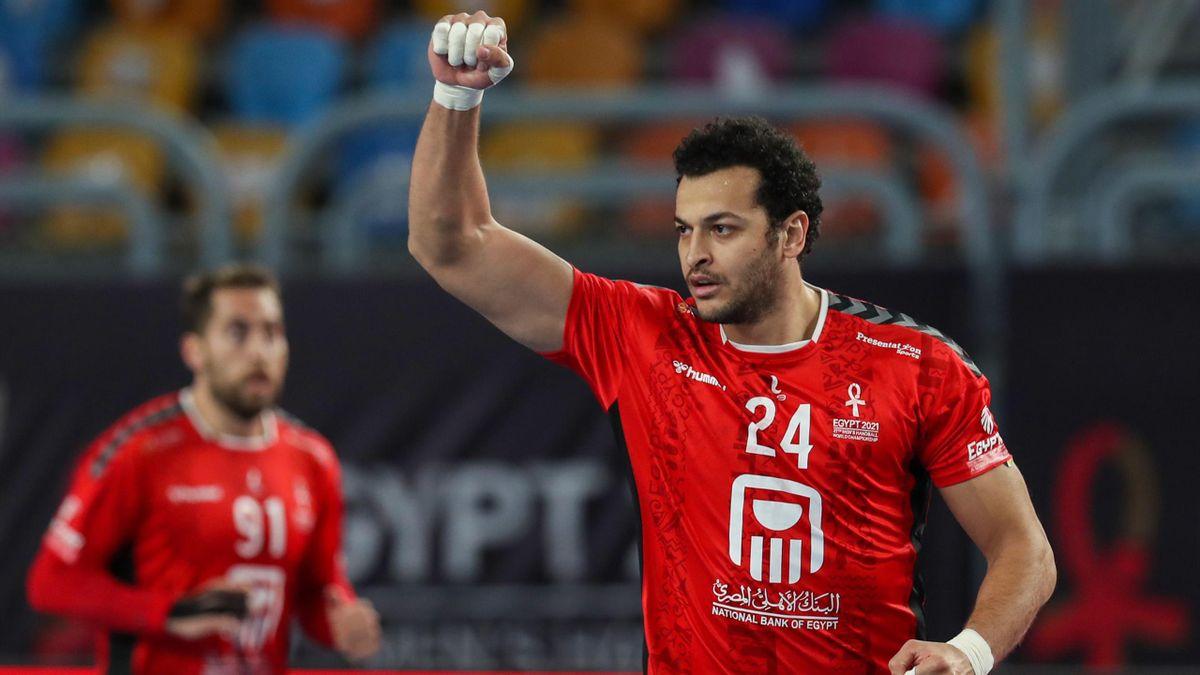 Ibrahim El Masry und Ägypten jubeln über den Einzug ins Viertelfinale bei der Heim-WM