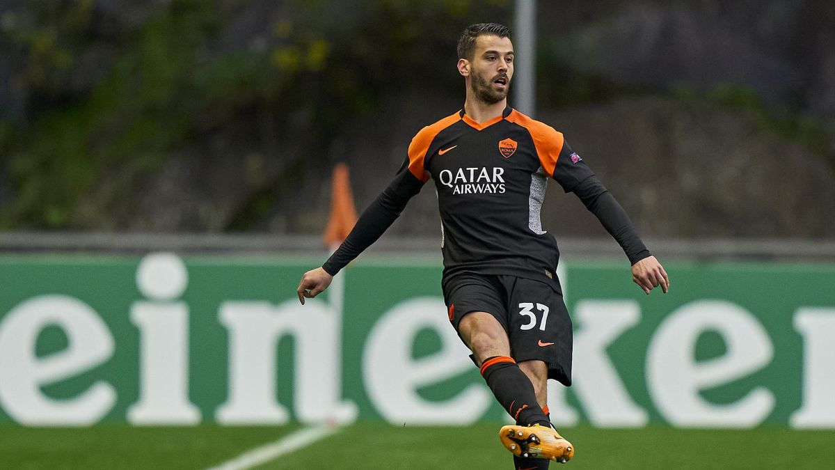 Leonardo Spinazzola durante Braga-Roma di Europa League