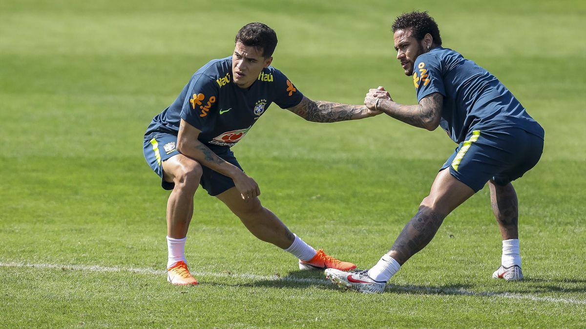 Philippe Coutinho și Neymar