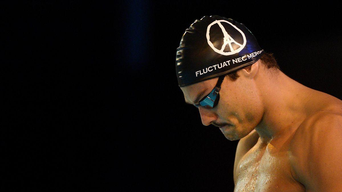 Florent Manaudou, aux championnats de France petit bassin à Angers, le 19 novembre 2015.