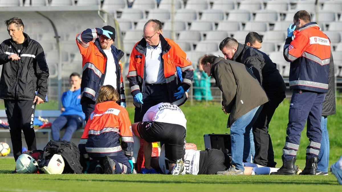 Christian Müller verletzte sich schwer im Gesicht