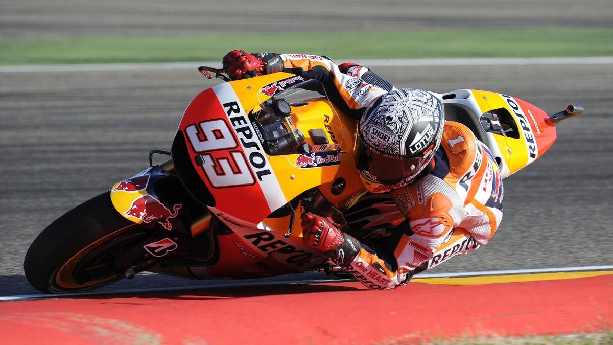 Marc Marquez (Honda HRC) en el Gran Premio de Aragón de MotoGP 2015