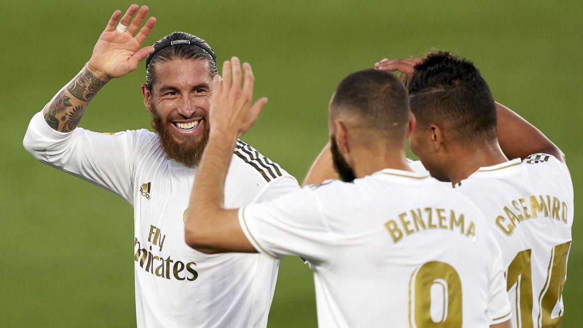 Benzema, Ramos și Casemiro, jucătorii lui Real Madrid