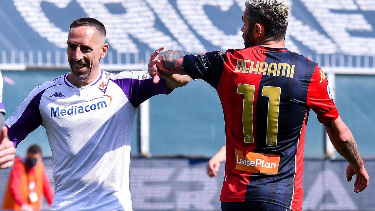 Behrami e Ribery, Genoa-Fiorentina