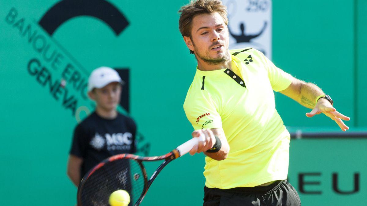 Stan Wawrinka, lors du tournoi de Genève, le 17 mai 2016.
