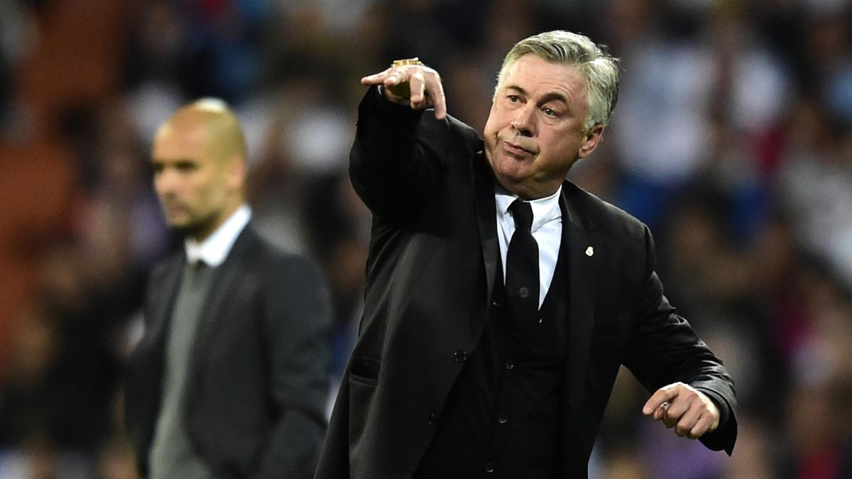 Carlo Ancelotti, l'entraîneur du Real Madrid, lors de la demi-finale de Ligue des champions face au Bayern Munich.