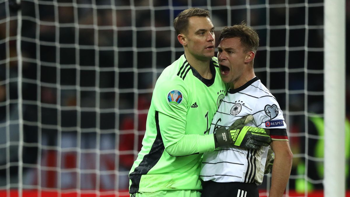 Auch Manuel Neuer (links) und Joshua Kimmich stehen auf der vorläufigen Kaderliste für die Olympischen Spiele