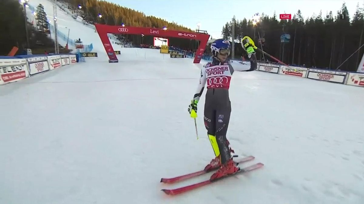 Mikaela Shiffrin, Levi 2018, slalom 1st run