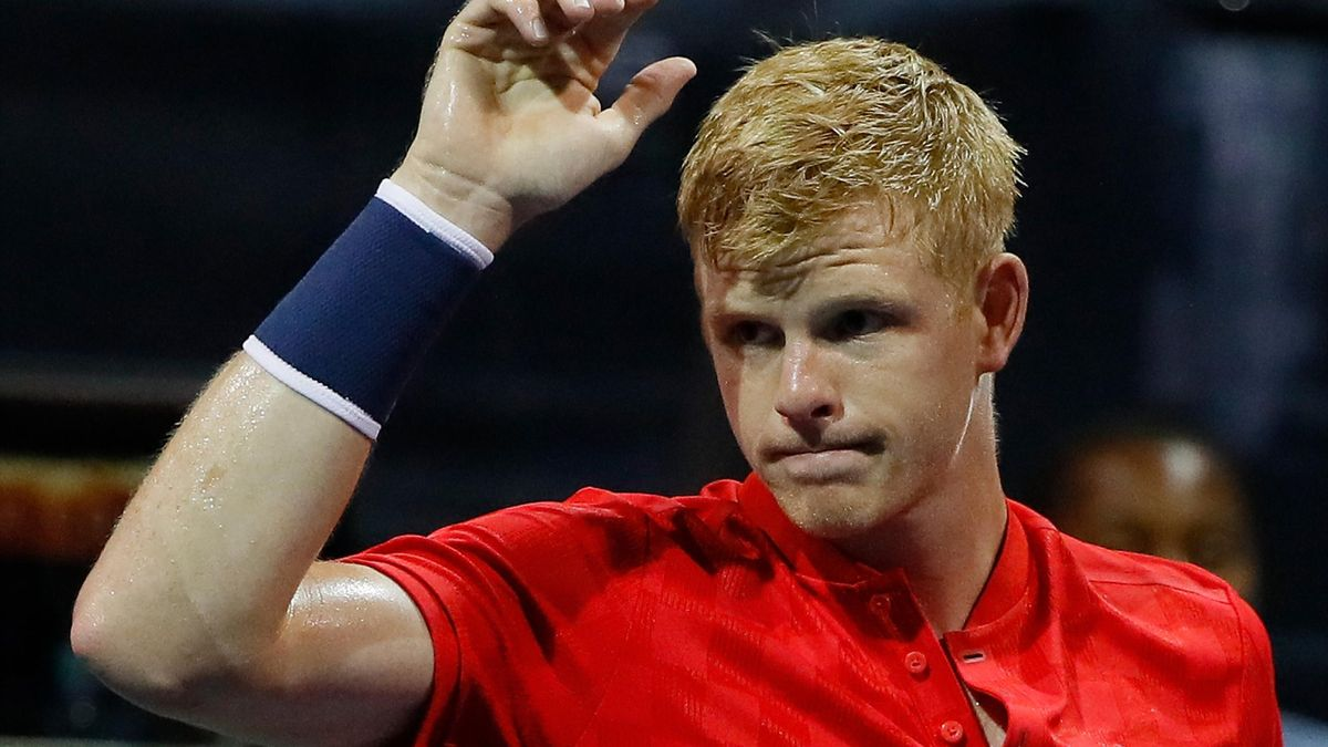 Kyle Edmund of Great Britain.