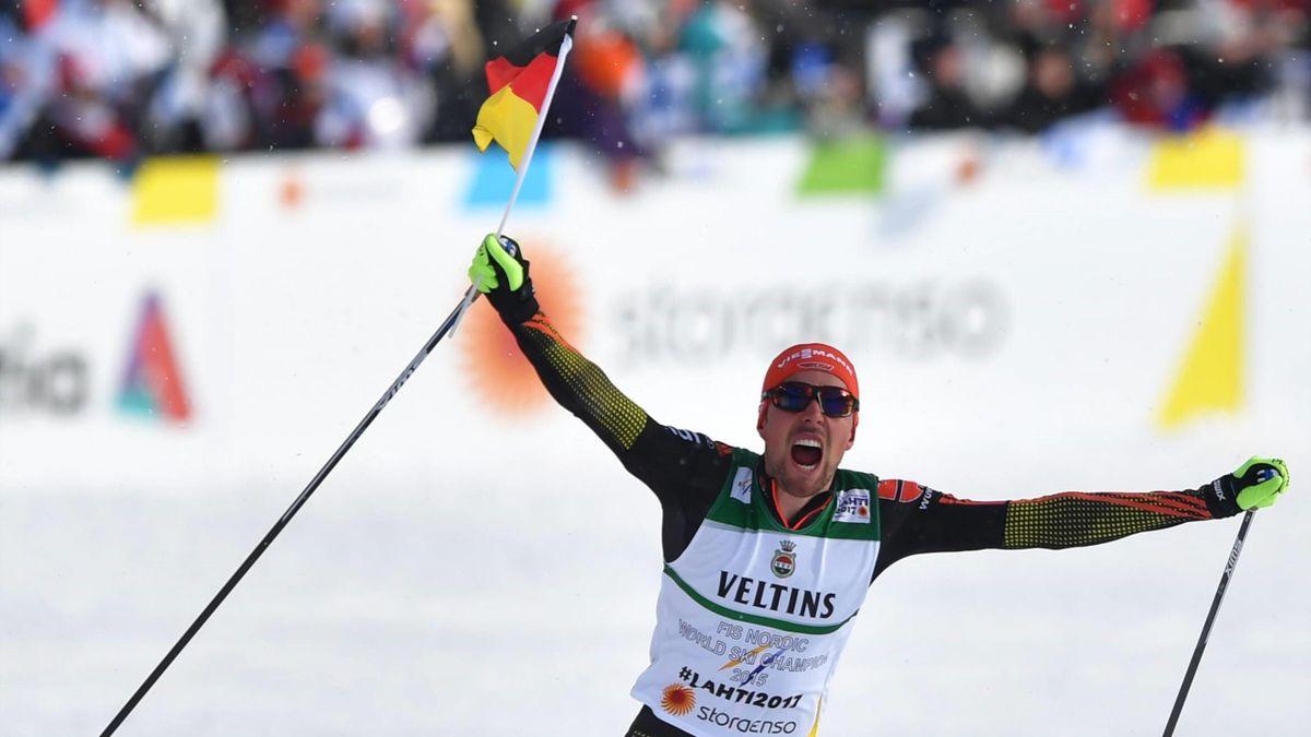 WM 2017: Johannes Rydzek jubelt über Gold in Lahti