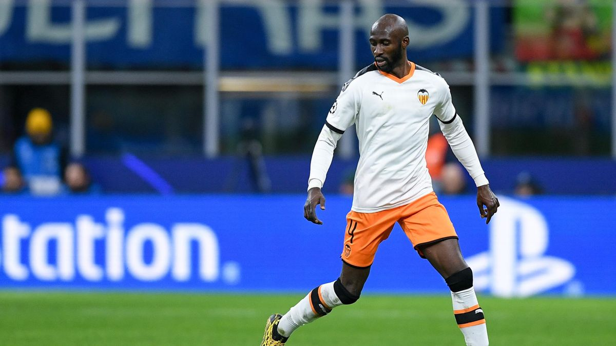 Eliaquim Mangala of Valencia during the UEFA Champions League Round of 16 match between Atalanta and Valencia at Stadio San Siro, Milan, Italy on 19 February 2020