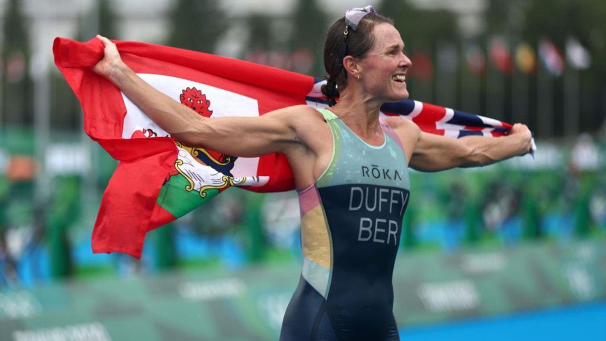 Flora Duffy wint de olympische triatlon