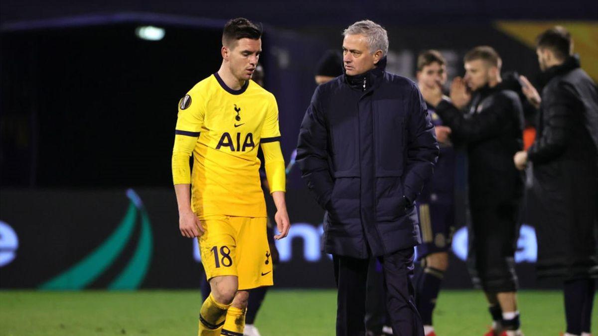 Mourinho a colloquio con Lo Celso durante Dinamo Zagabria-Tottenham Hotspur - Europa League 2020/2021 - Getty Images