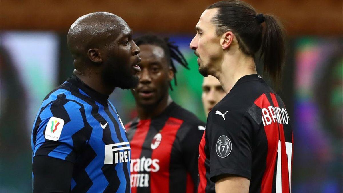 Lukaku, Ibrahimovic - Inter-Milan - Coppa Italia 2020/2021 - Getty Images