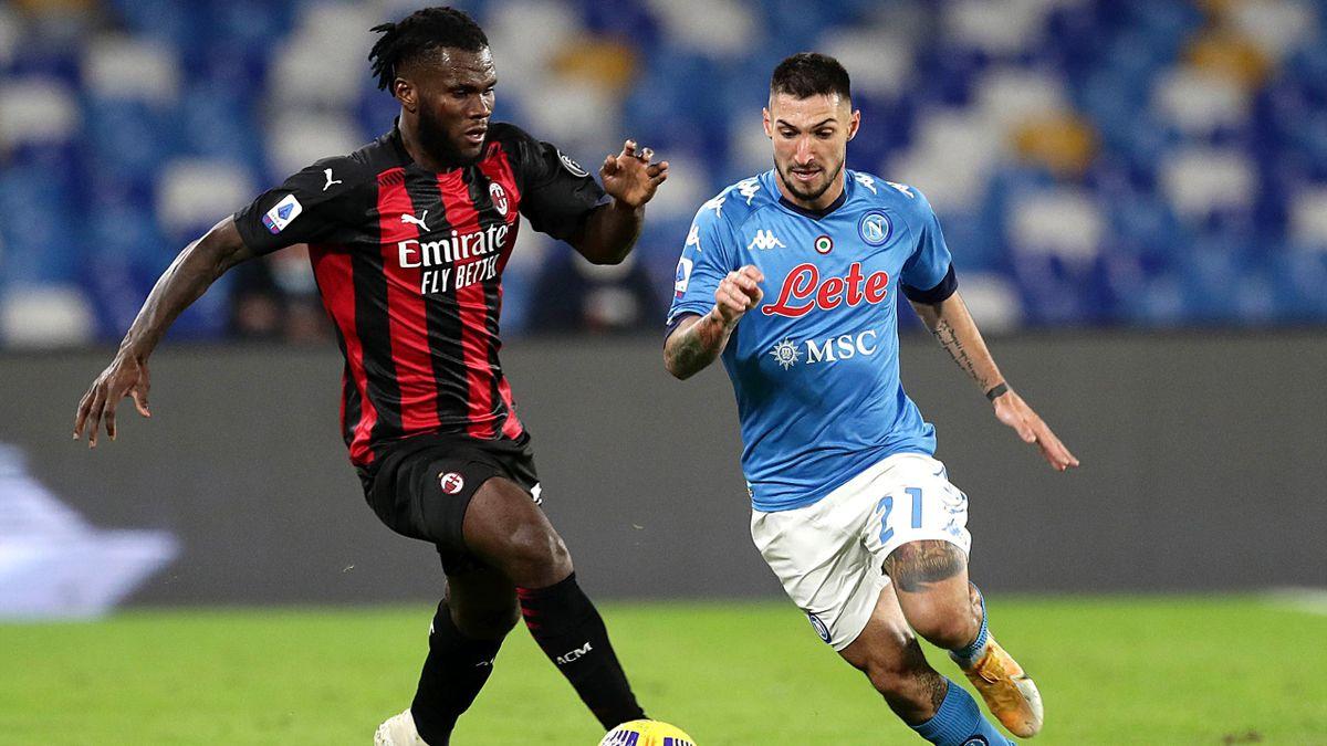 Kessie contro Politano in Napoli-Milan