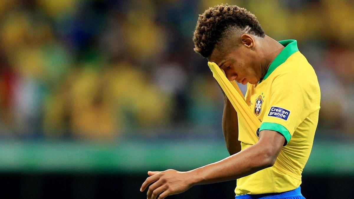 David Neres deluso in Brasile-Venezuela, Copa America