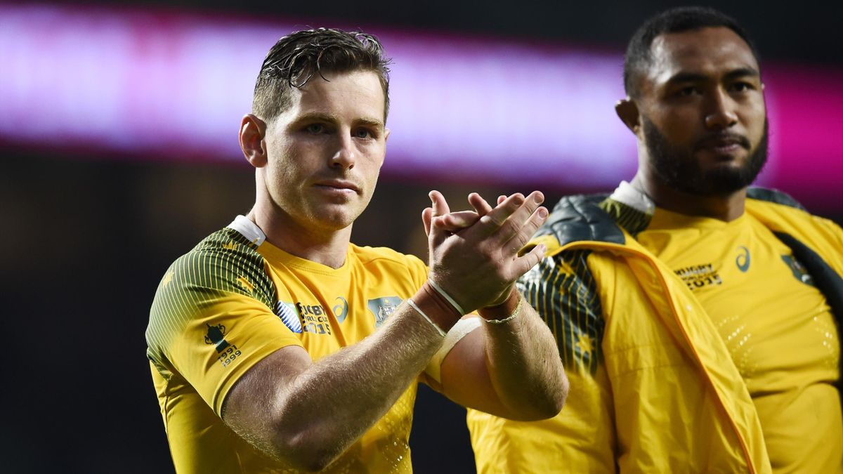 Australia's Bernard Foley at the end of the game