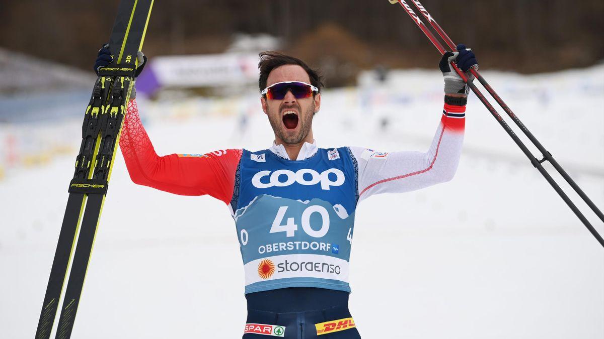 Hans Christer Holund wird Weltmeister über 15 km