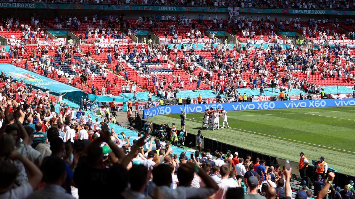 Матч Англия – Хорватия на «Уэмбли»