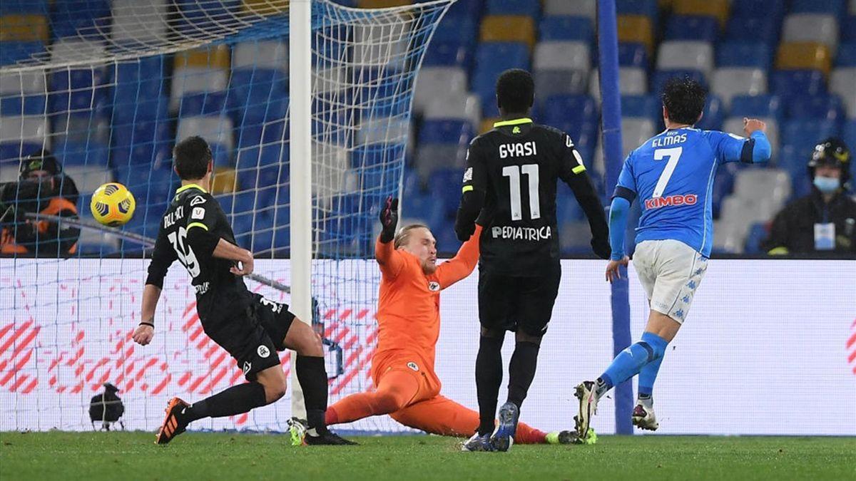 Elmas - Napoli-Spezia - Coppa Italia 2020/2021 - Getty Images