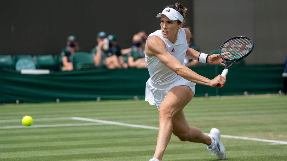 Andrea Petkovic im Spiel gegen Barbora Krejcikova