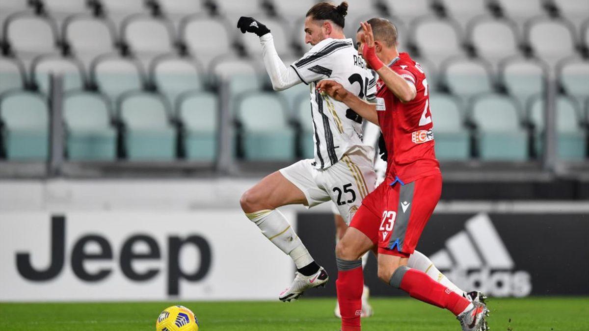 Rabiot, Vicari - Juventus-SPAL - Coppa Italia 2020/2021 - Getty Images