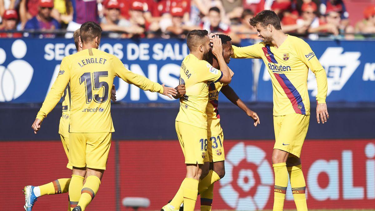Fati pour son premier but avec le Barça